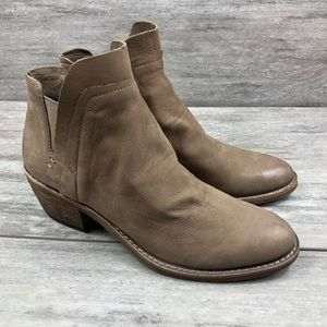 Dolce vita tan ankle booties